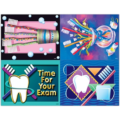 Dental Assorted Laser Postcards; Toothbrush