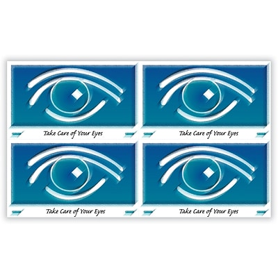 Eye Care Laser Postcards, Blue Graphic Eye