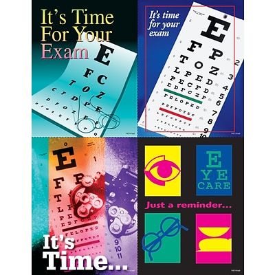 Eye Care Assorted Laser Postcards, Eye Charts