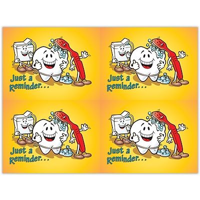 Dental Laser Postcards, Smile Team™ Just A Reminder