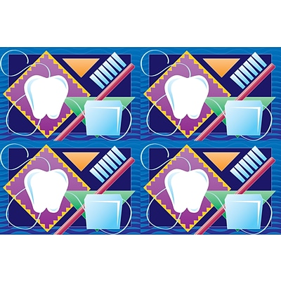 Dental Laser Postcards, Tooth, Brush and Floss