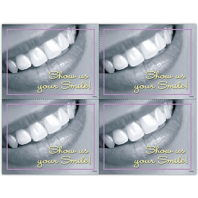 Photo Image Laser Postcards; Show Us Your Smile!
