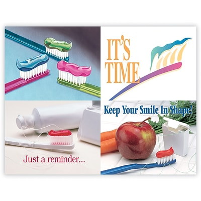 Graphic Image Assorted Laser Postcards, Toothbrushes