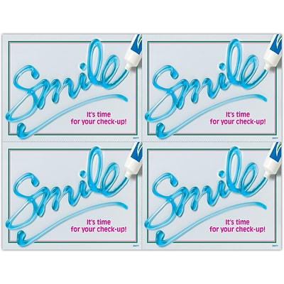 Graphic Image Laser Postcards; Toothpaste Smile