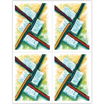 Graphic Image Laser Postcards; Watercolor Toothbrushes