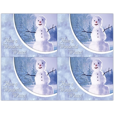 Photo Image Laser Postcards, Holiday Series, Winter