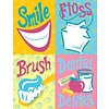 Graphic Image Assorted Laser Postcards, Smile, Floss, Brush Delites