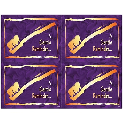 Gentle Dental Laser Postcards; Elegant Brush in Gold