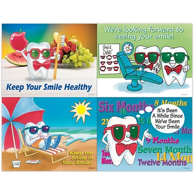 Toothguy® Assorted Laser Postcards, Healthy Smile