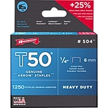 Arrow® T50® 1/4 Heavy Duty Staples