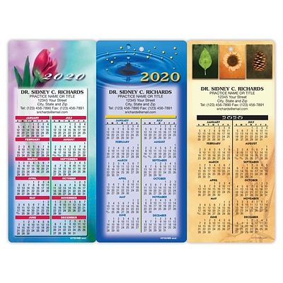 Easy Hang Promotional Calendar Assortment Packs; Flowers and Leaves