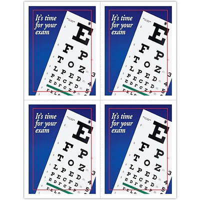 Eye Care Laser Postcards; Red Blue Eye Chart