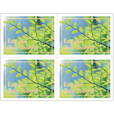Scenic Laser Postcards; Green Leaves