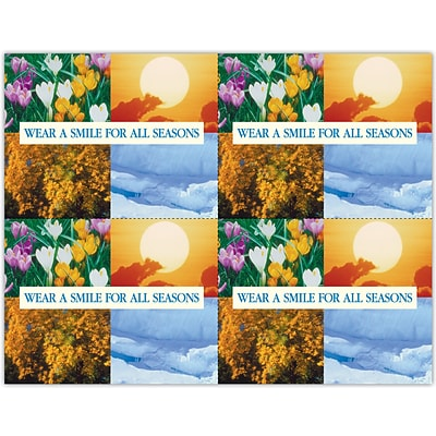 Scenic Laser Postcards, Wear a Smile for All Seasons