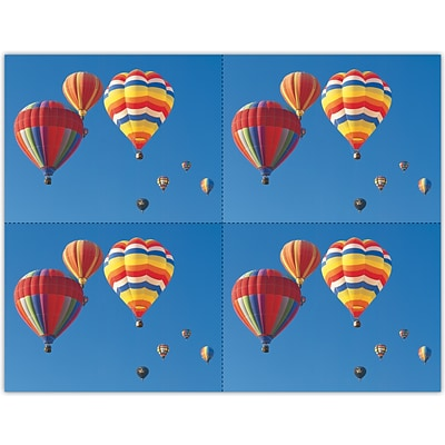 Scenic Laser Postcards, Colorful Air Balloons