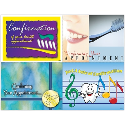 Graphic Image Laser Postcards, Appointment Confirmation