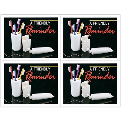 Graphic Image Laser Postcards; Toothbrushes, Friendly Reminder