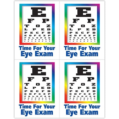 Graphic Image Laser Postcards; Eye Chart Image