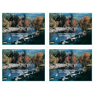 Scenic Laser Postcards; Mountain Stream, Clear Vision begins with healthy Eyes