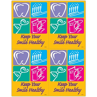 Graphic Image Laser Postcards; Smile  Healthy