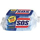 S.O.S® All Surface Scrubber Sponge, 3/Pk, 8 Packs/Ct