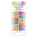 Easy Hang Promotional Calendars; Rainbow Colors