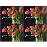 Red Tulips Generic Laser Postcards