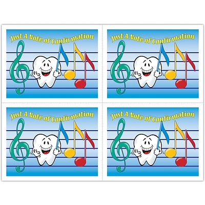 Smile Team™ Laser Postcards; Music Notes