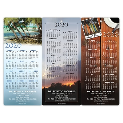 Magnetic Back Promotional Calendar Assortment Packs; Customer Series