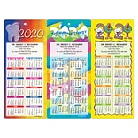 Magnetic Strip Back Dental Promotional Calendars Assortment Packs; Bright Colors