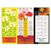 Magnet Strip Back Calendar; Floral Themes