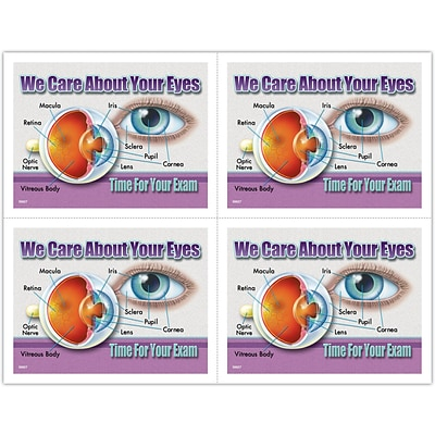 Photo Image Laser Postcards; About Eyes Diagram