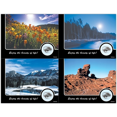 Scenic Assorted Laser Postcards, Nature Photos