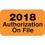 2018 Authorization on File Labels