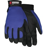Memphis Gloves® Fasguard™ Clarino® Synthetic Leather Palm Multi-Task Gloves, Blue/Black, Medium