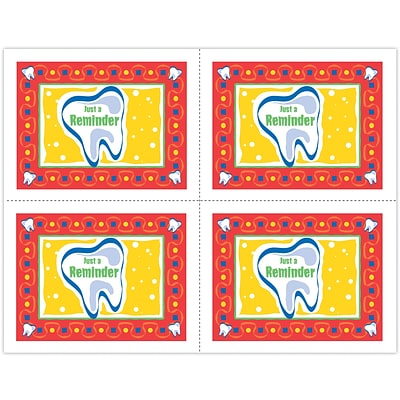 Graphic Image Laser Postcards; Large Tooth, Reminder
