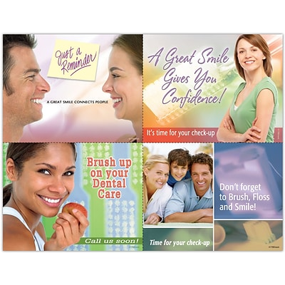 Cosmetic Dentistry Assorted Laser Postcards; Brush Up