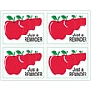 Graphic Image Laser Postcards; Apples, Just a Reminder