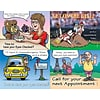 Graphic Image Assorted Laser Postcards, Cartoon Assortment