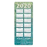 Easy Hang Calendar; Patterned Green