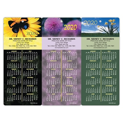 Easy Hang Promotional Calendar Assortment Packs; Flowers