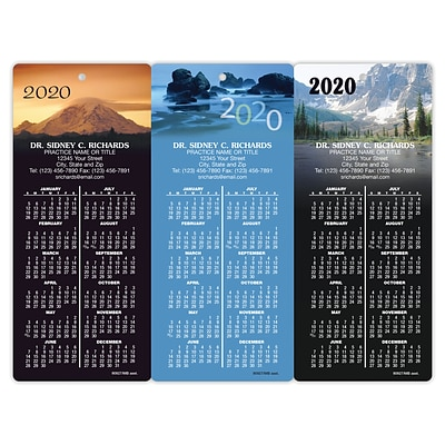 Magnetic Back Promotional Calendar Assortment Packs; Mountains