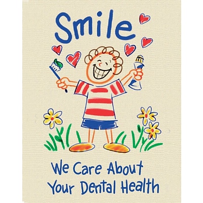 Recycled Laser Postcards, Smile, We Care About Your Dental Health