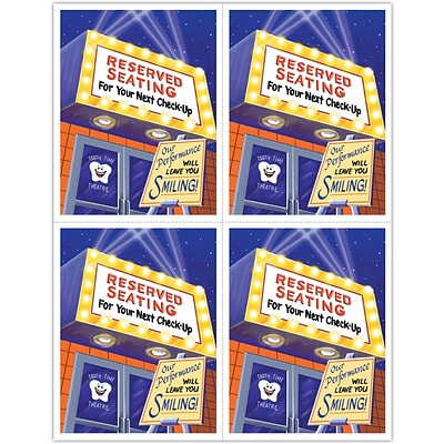 Graphic Image Laser Postcards, Reserved Seating