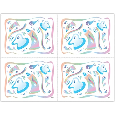 Graphic Image Laser Postcards; Pastel Dent Icons