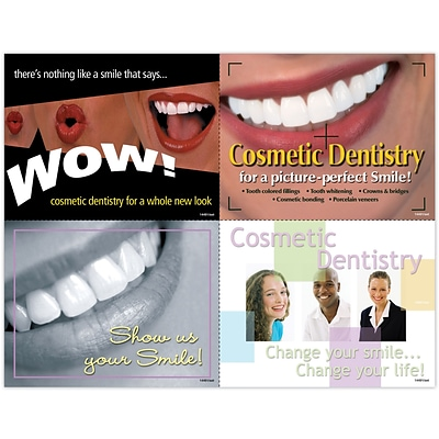 Dental Assorted Laser Postcards; Cosmetic Dentistry