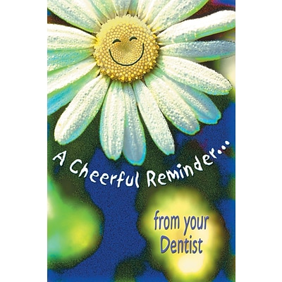 Humorous Laser Postcards; Smiling Daisy