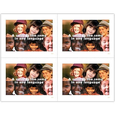 Graphic Image Laser Postcards, Smile/Face Collage