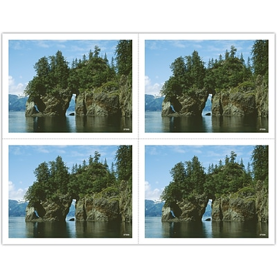 Generic Laser Postcards; Rock Archway in Lake