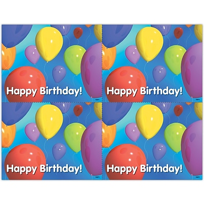 Generic Laser Postcards; Many Balloons Birthday